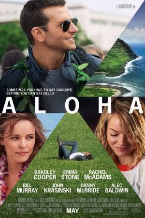 Aloha movie poster, Bradley Cooper, Rachel MacAdams, Emma Stone