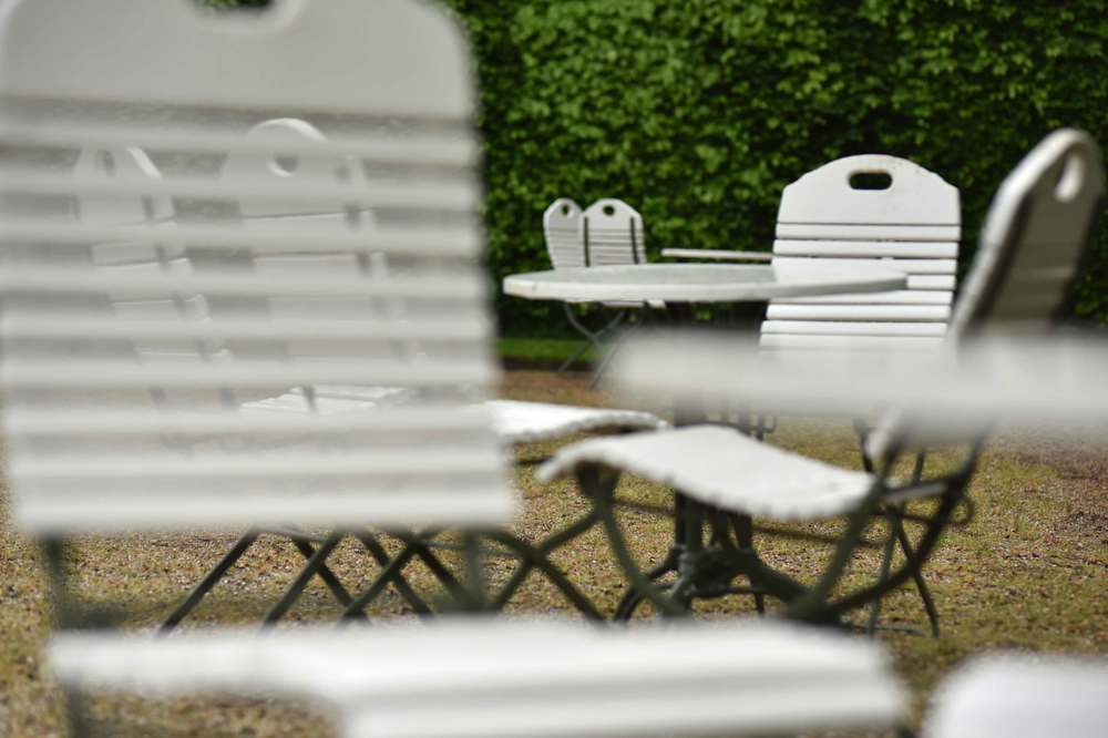Wrought iron outdoor seating, Gönneranlage, historic park, Baden Baden, Germany. Image©sourcingstyle.com