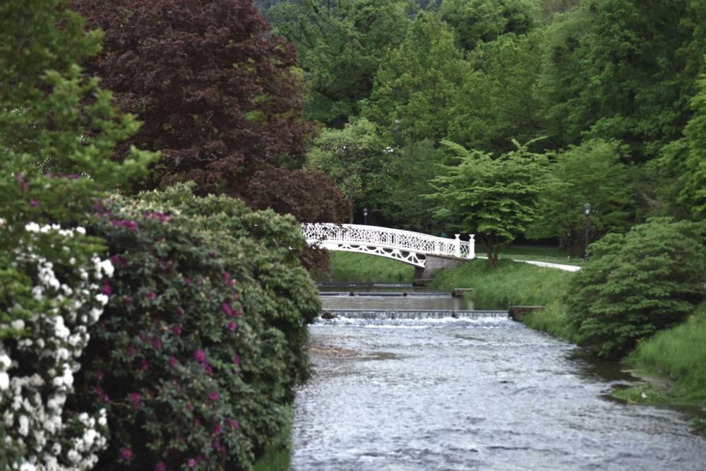 Bridge on Oos river, Bellevue Brücke, Baden Baden, Germany. Image©sourcingstyle.com