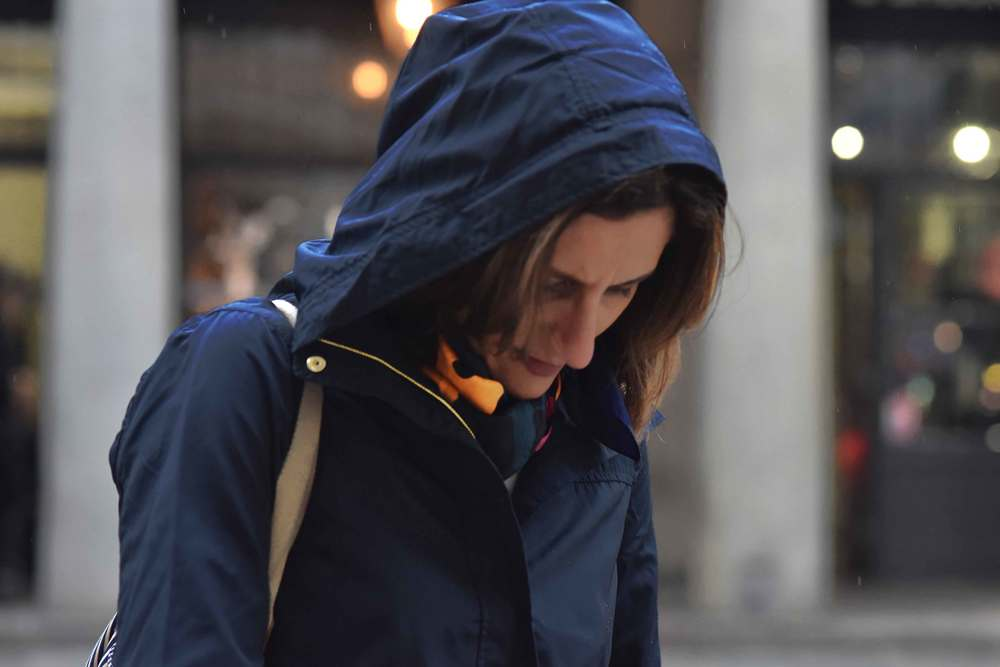 Zara water repellent jacket, Zara printed pocket square, Covent Garden, London, UK. Image©sourcingstyle.com