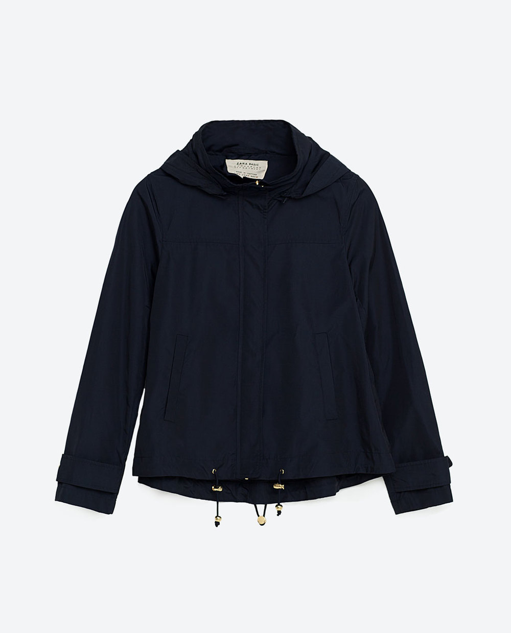 Zara water repellent jacket, from Zara.com