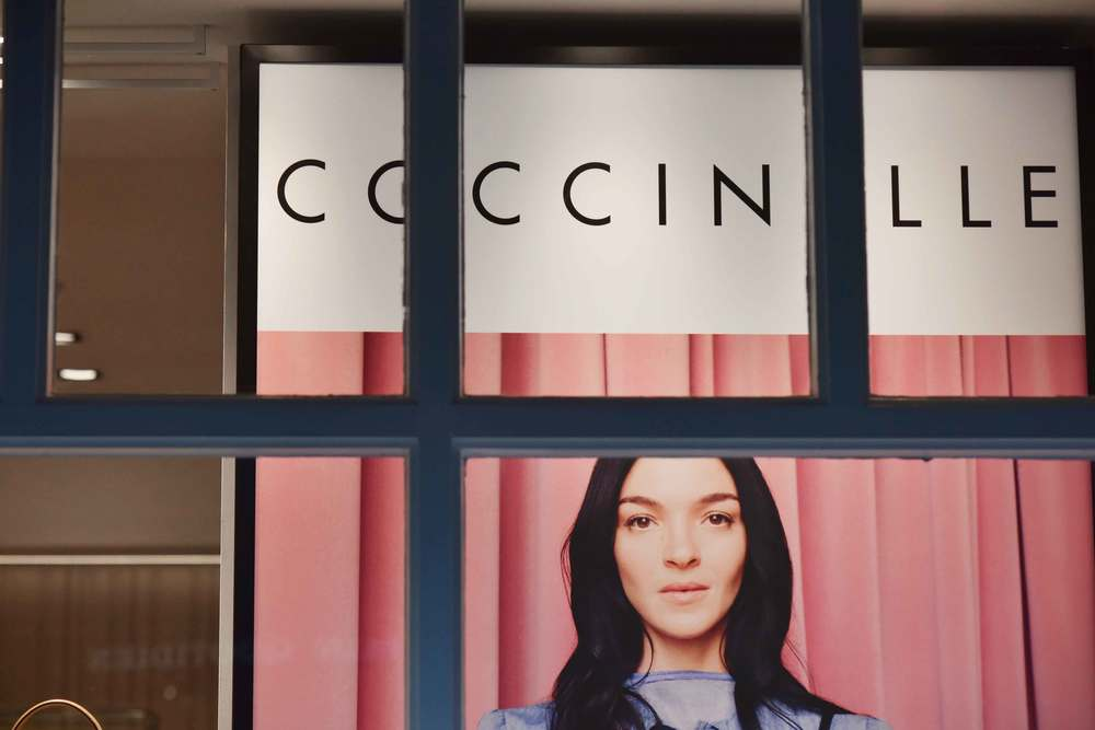 Coccinelle store, Bicester village, designer shopping outlet near London, UK. Image©sourcingstyle.com