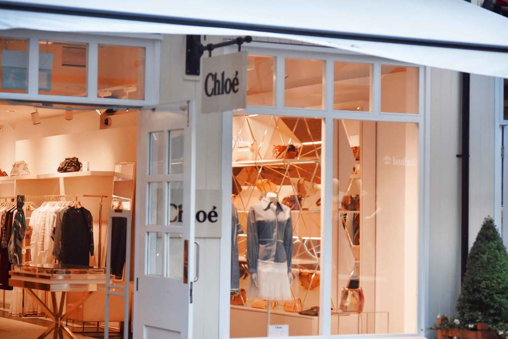 Chloe, Bicester village, designer shopping outlet near London, UK. Image©sourcingstyle.com