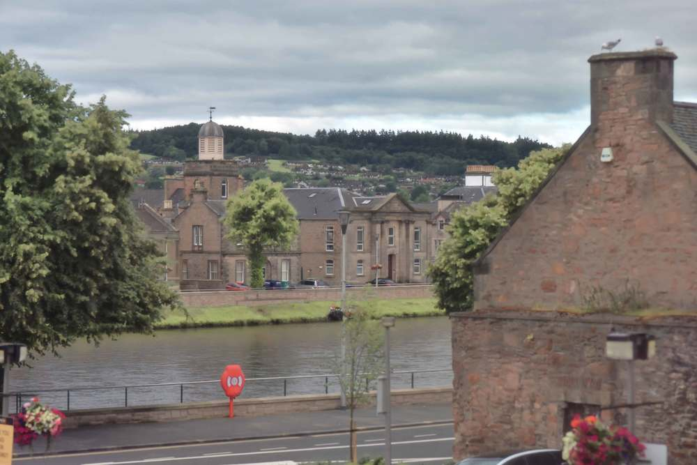 City of Inverness, view from my table, breakfast buffet, Mercure hotel, Inverness, Scotland. Image©sourcingstyle.com