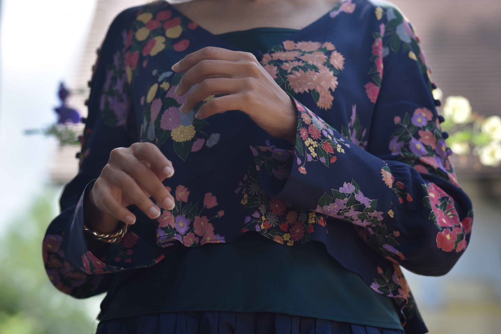 Zara floral top, Talbots silk camisole. Image©sourcingstyle.com