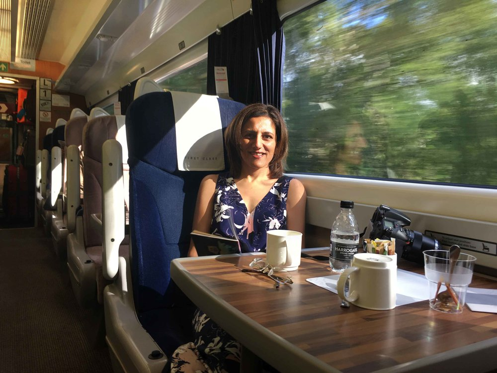 First Class, Virgin Trains East Coast, Scotland to London King's Cross. Image©sourcingstyle.com
