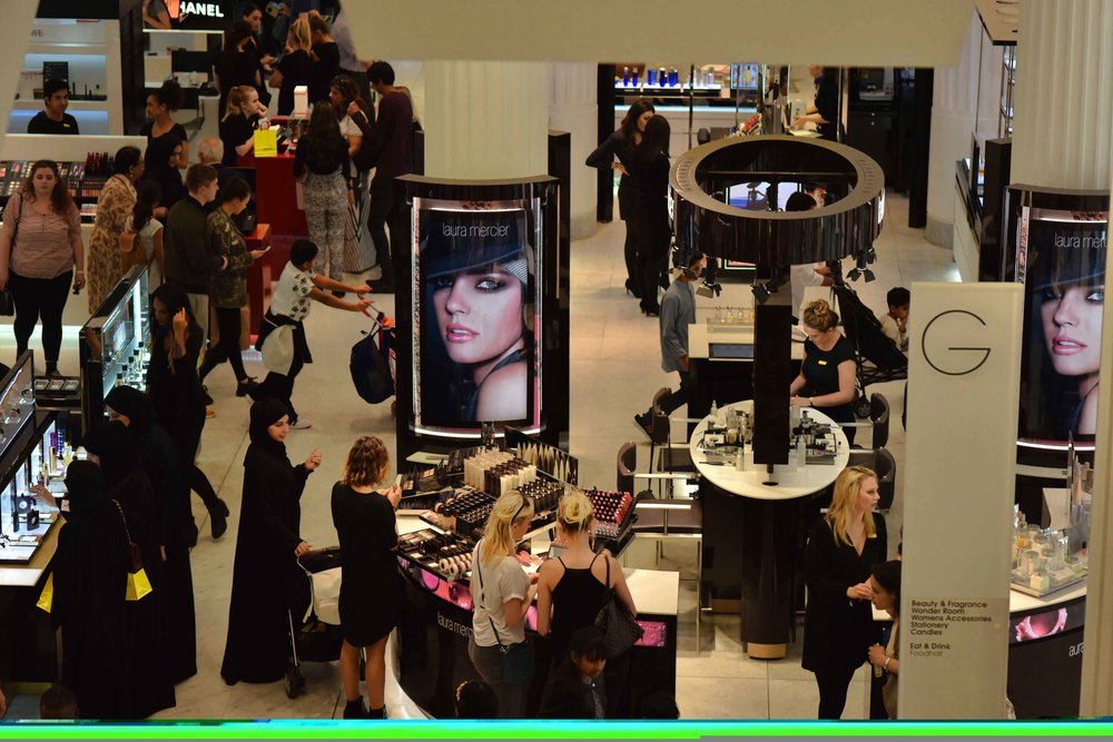 Selfridges, makeup and skincare department, London, U.K. Image©sourcingstyle.com