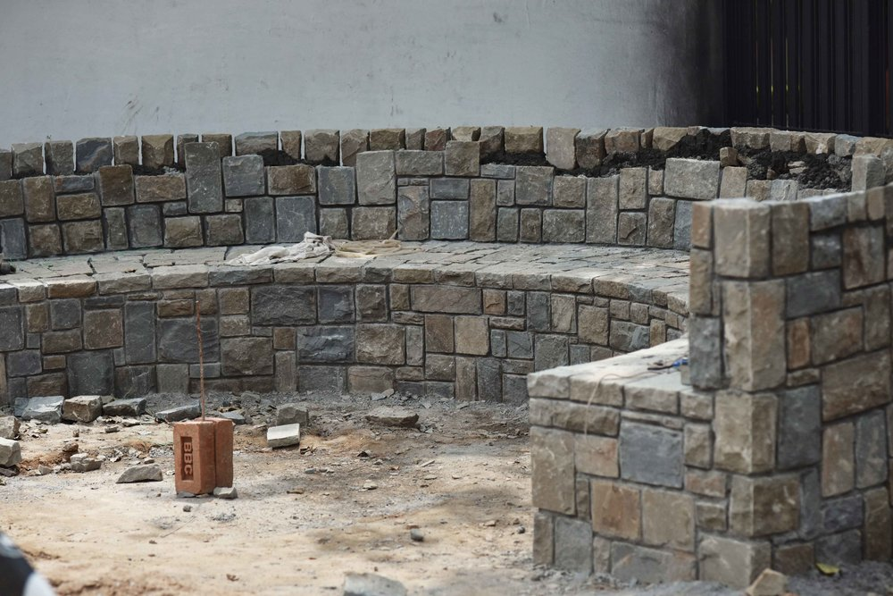 Work in progress, outside seating, landscape design by Geeta Singh. Image©sourcingstyle.com