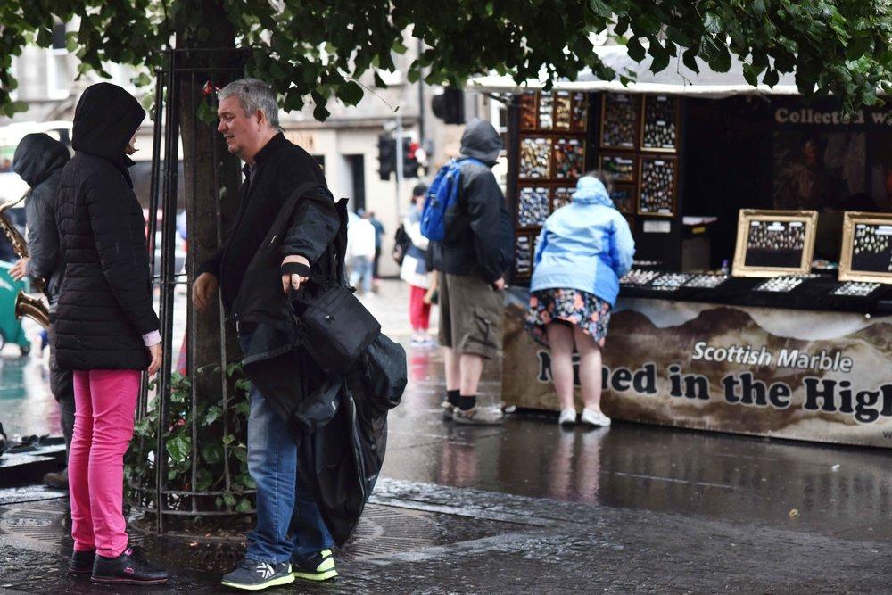 Rainy weather, Edinburgh, Scotland. Image©sourcingstyle.com