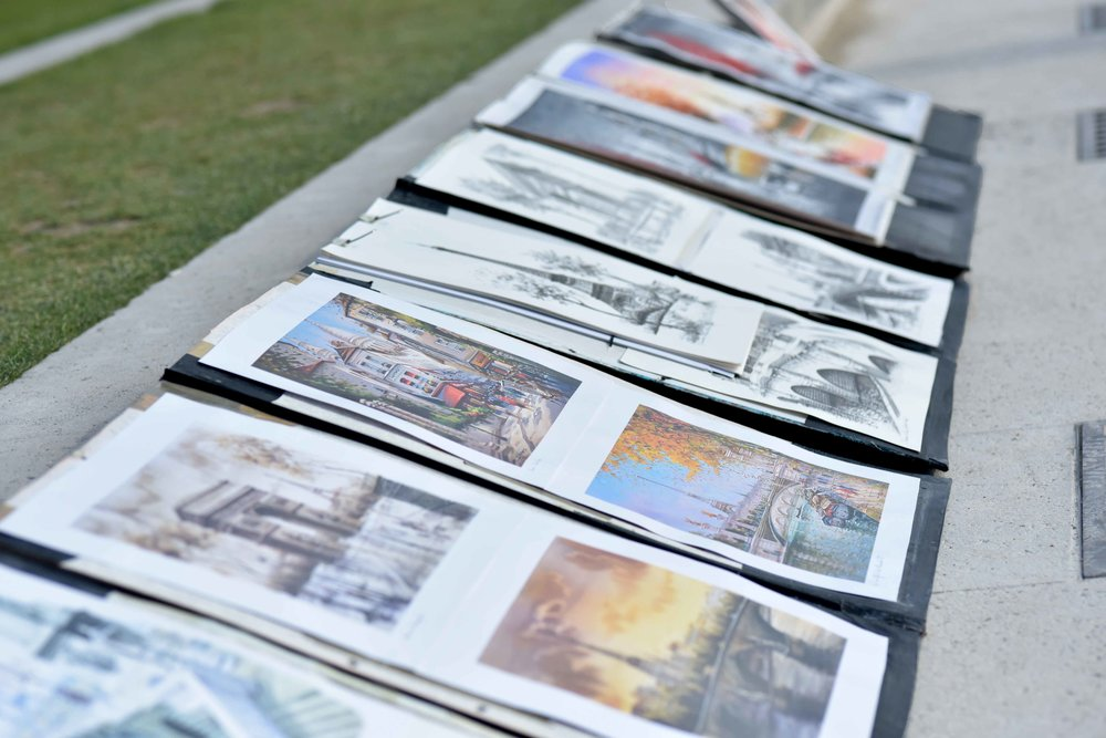 Hand Paintings at the Jardin de Tuileries, Paris. Photo: Nina Shaw. Image©sourcingstyle.com