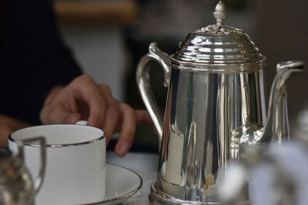 High tea, afternoon tea, Coworth Park hotel and spa, Dorchester Collection, Ascot, UK. Image©sourcingstyle.com