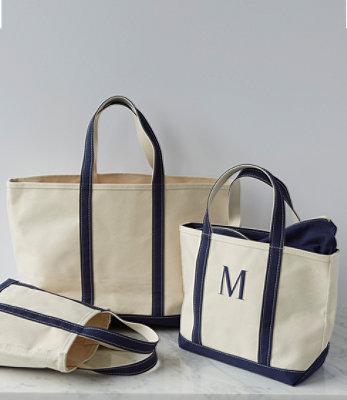 L.L.Bean boat and tote bag. Image from llbean.com.