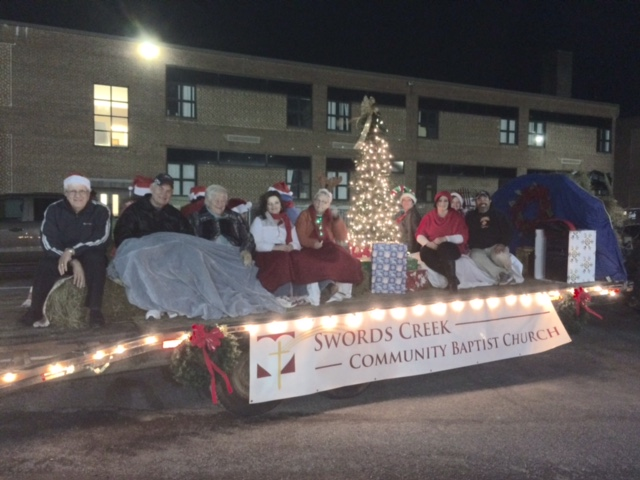 Honaker Christmas Parade Choir Float 2014