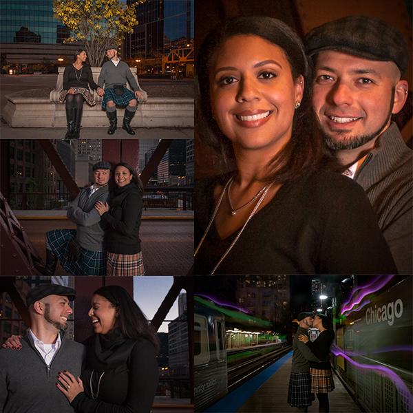 Shawn & Paige Engagement Announcement Chicago, Illinois
