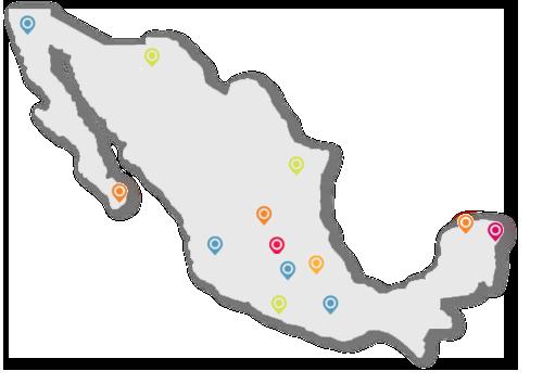 CDMX, Léon, Guerrero, Riviera, Baja California, Puebla, Estado de México, Nuevo Léon