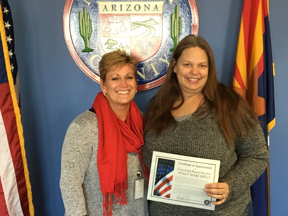 Phoenix Union Elementary school board member Stacy Marchelli with Union Elementary Superintendent Lorah Neville
