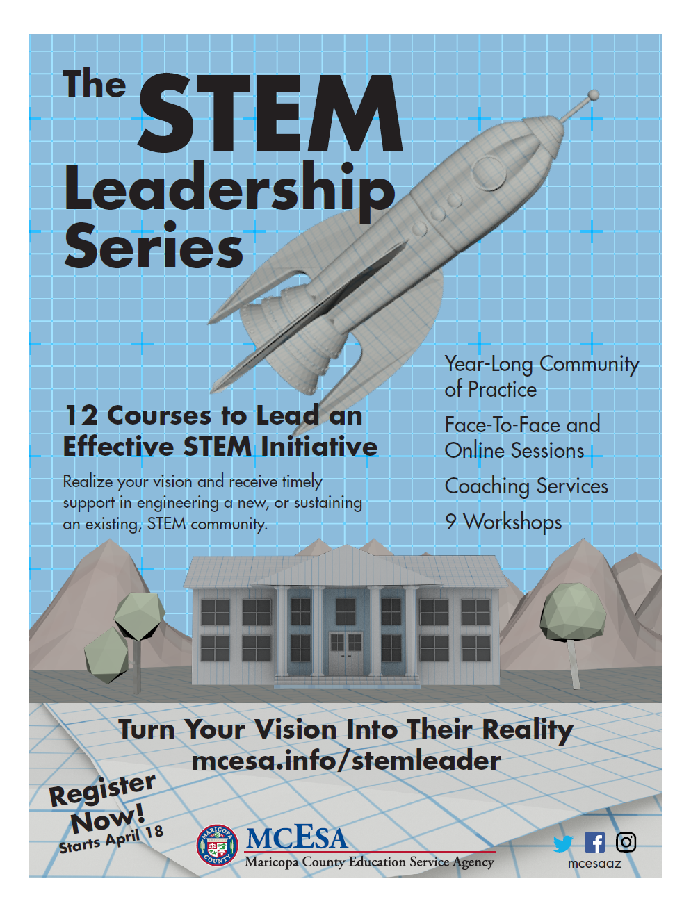 Download the STEM Leadership Series flyer.