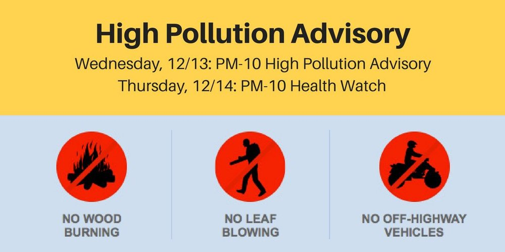 High Pollution Advisories to Schools