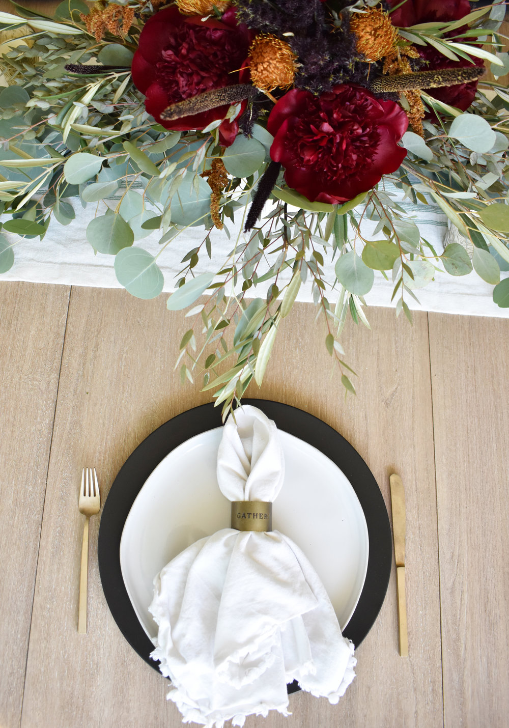 Gather napkin ring