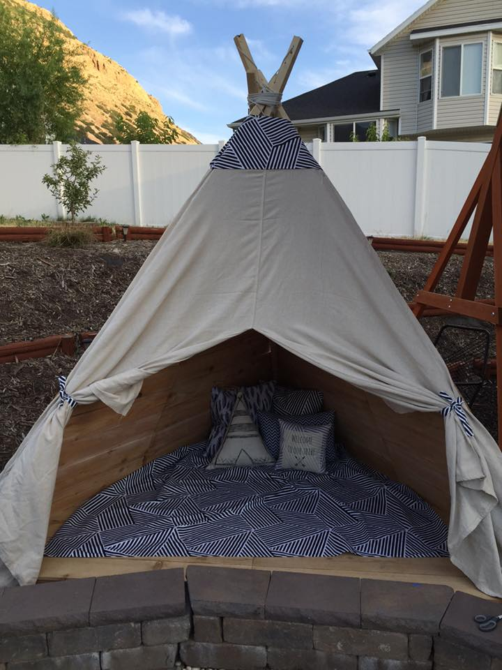 Build An Outdoor Teepee In A Day For About $150 U2014 TDR Handmade Studio By  The Decorated Room