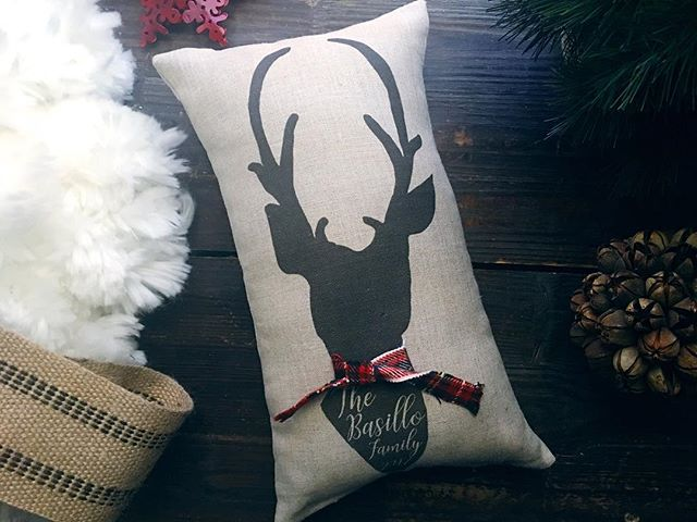 Our popular deer pillow just got a new design! And it involves a stylish plaid scarf! A must have for the season! Personalized with a family name or anything really! Perfect for gift giving! We will be offering Christmas Gift wrap options as well! . . . . . . . . . #deerfamily #christmasDeerpillow #christmasisourfavorite #personalize #plaid #love #etsyshopowner #etsysellersofinstagram #etsychristmas #holidaygiftideas #etsystyle #etsyhome #etsylove #etsyshop #thedecoratedroom #madeinogden #tdrhandmade #tdrhandmadestudio