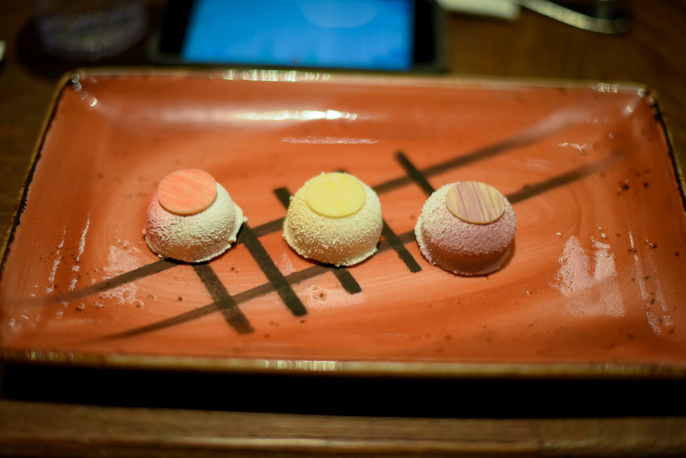 My individual plate for the second dessert. Beautiful! Photo by  Infinity Visuals.