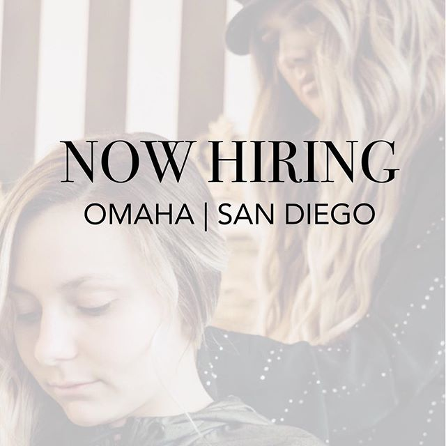 Email or DM us your resume 💓sfwsalon@gmail.com 🥂👏🏼✨