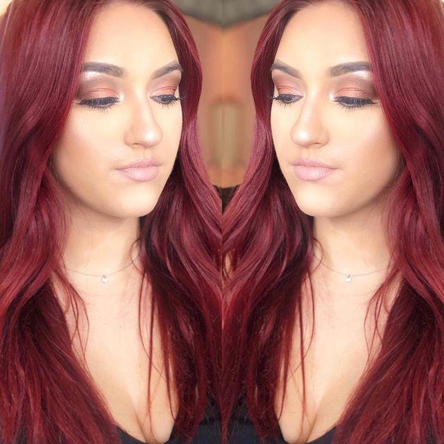 @d_beaumont looking absolutely beautiful! 💄🥂💓🙌🏼 HAIR || @laurendengel  MAKEUP || @joeynielsenmua  #omaha #omahahairstylist #omahamakeupartist #omahahairsalon #new #redhair #temptupro #maccosmetics #kenra #morphe #350shimmer