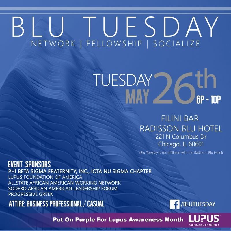 Blu Tuesday turns purple.