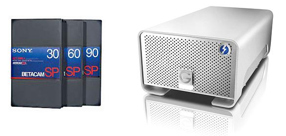 Professional Betacam SP + Digital Betacam Digitizing Services in L.A.