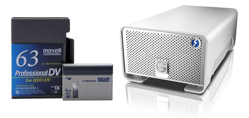 Mini-DV & HDV To Hard Drive Transfer Service in Los Angeles
