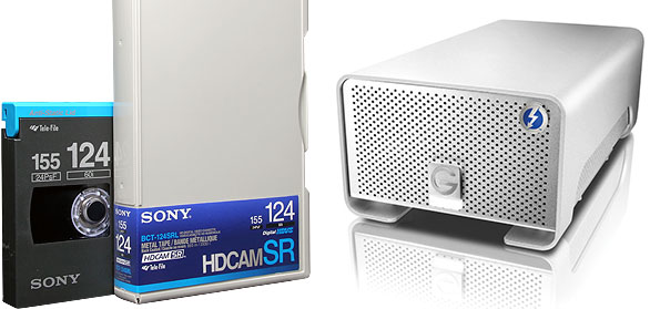 Professional HDCAM & HDCAM SR Transfer to Digital file in Los Angeles.