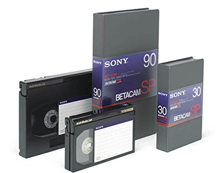 Betacam SP Tapes (commonly referred to as BetaSP) launched 1987