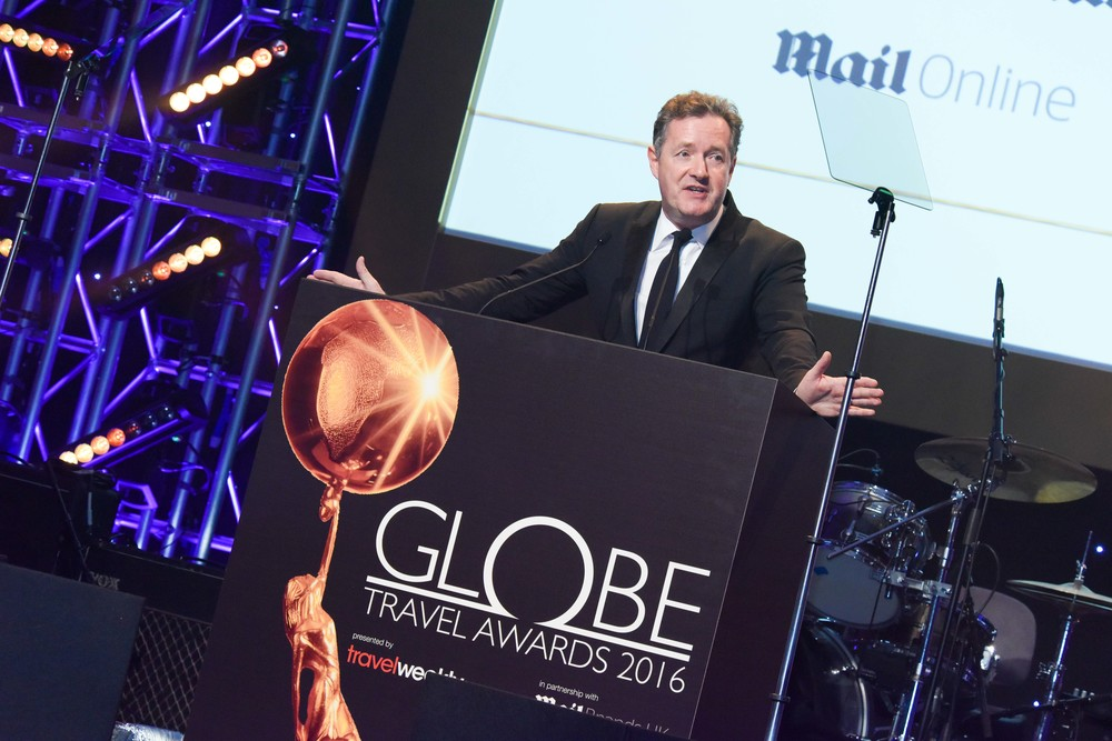 Piers Morgan presents the Mail Brands Consumer Awards. Copyright © Steve Dunlop.