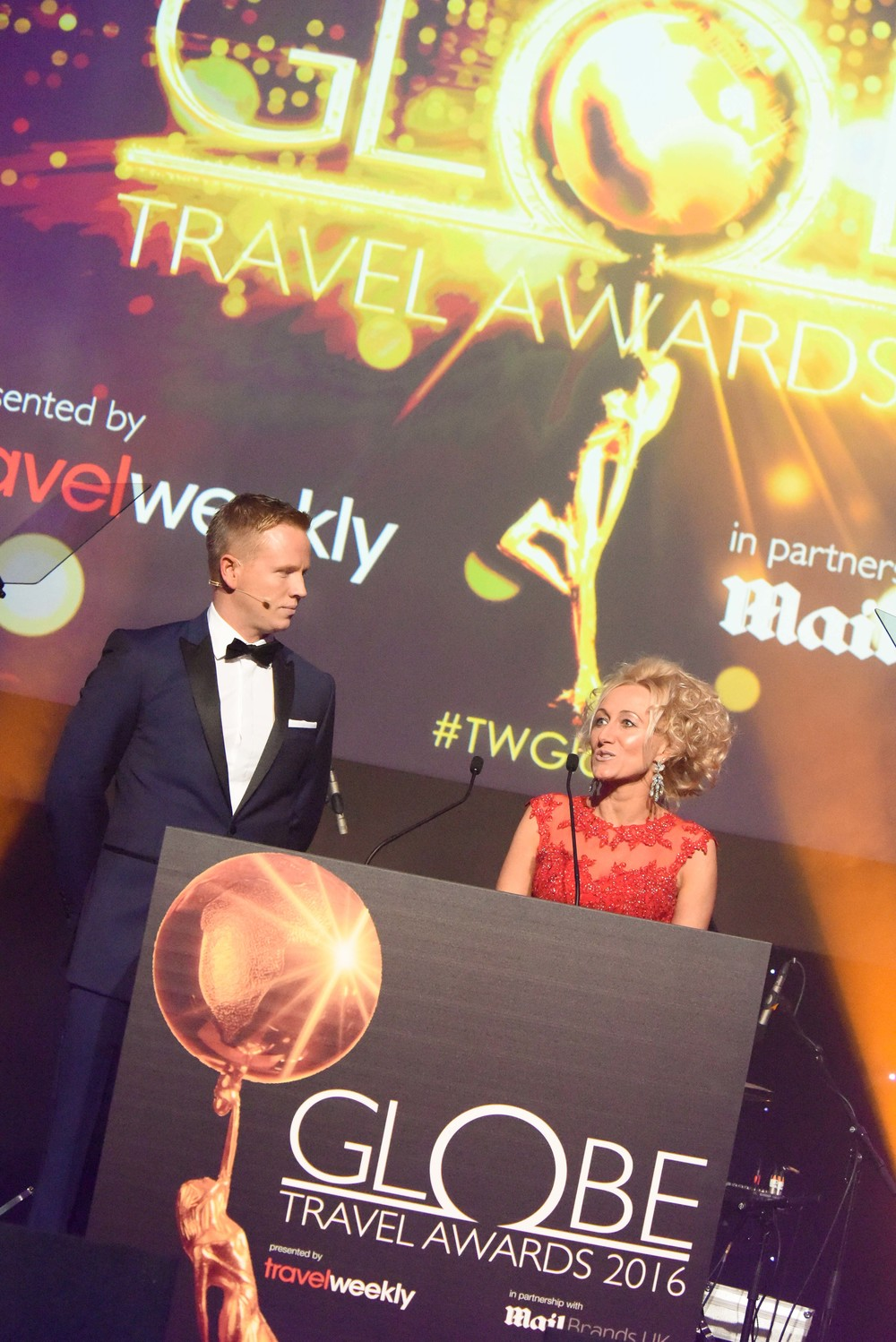 Travel Weekly's Managing Director Stuart Parish and Editor-in-chief Lucy Huxley. Copyright © teve Dunlop.