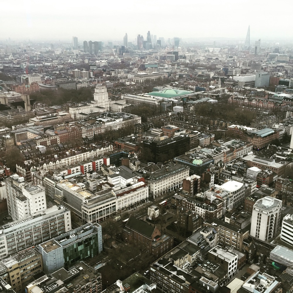 London skyline from BT Tower