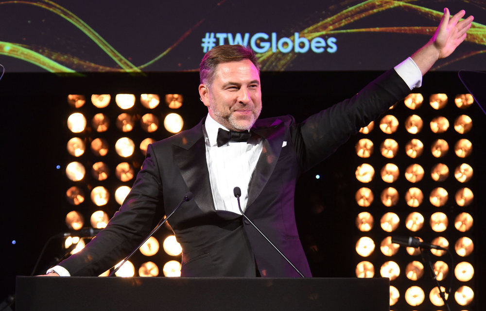 David Walliams hosts the 2017 Globe Travel Awards. Copyright © Steve Dunlop Photography.