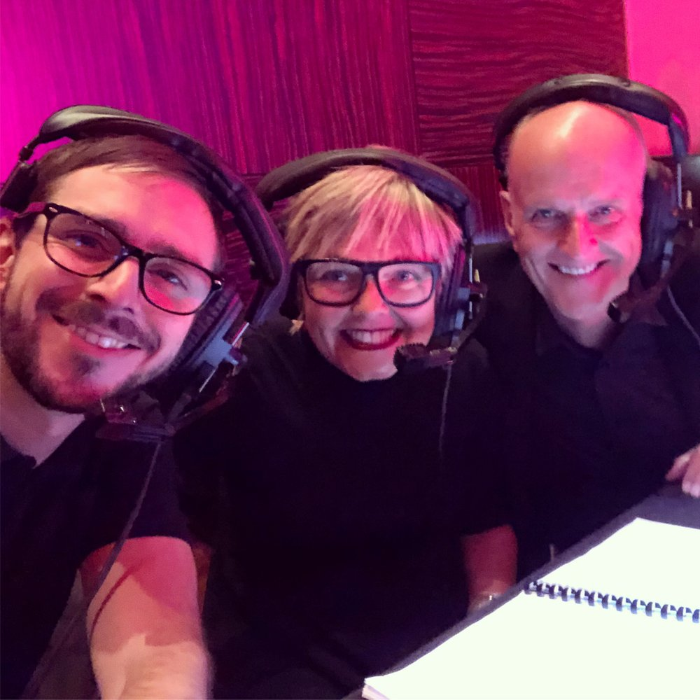 Show ready with brilliant show caller Julia Whittle and Voice Over Guru Peter Dickson.
