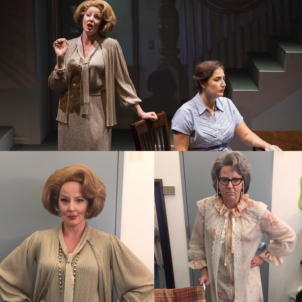 "Pictured up top with the fabulous Mezzo Soprano Lisa Chavez as the title role of Dolores Claiborne.  Bottom Right is me as a younger Vera Donovan and Bottom Left is still me, but as a far more ""mature"" Vera."