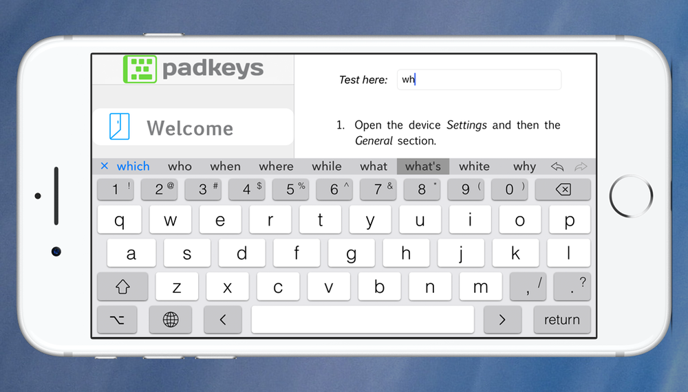 PadKeys uses the full screen width to display word suggestions.  It's a computer, not a mindreader, three isn't enough!