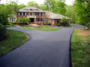 One of our complicated & quality driveways we can design and accomplish for you.   Browse  the pictures below of many before and after projects.