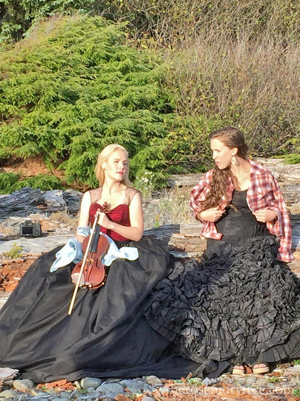 Annie & Gretchen with Coats