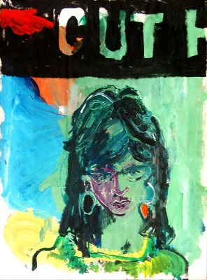 Jane , gouache and pastel on paper, 1964