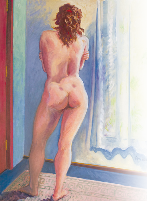 Remembering Erin's Back , oil on canvas, 2005