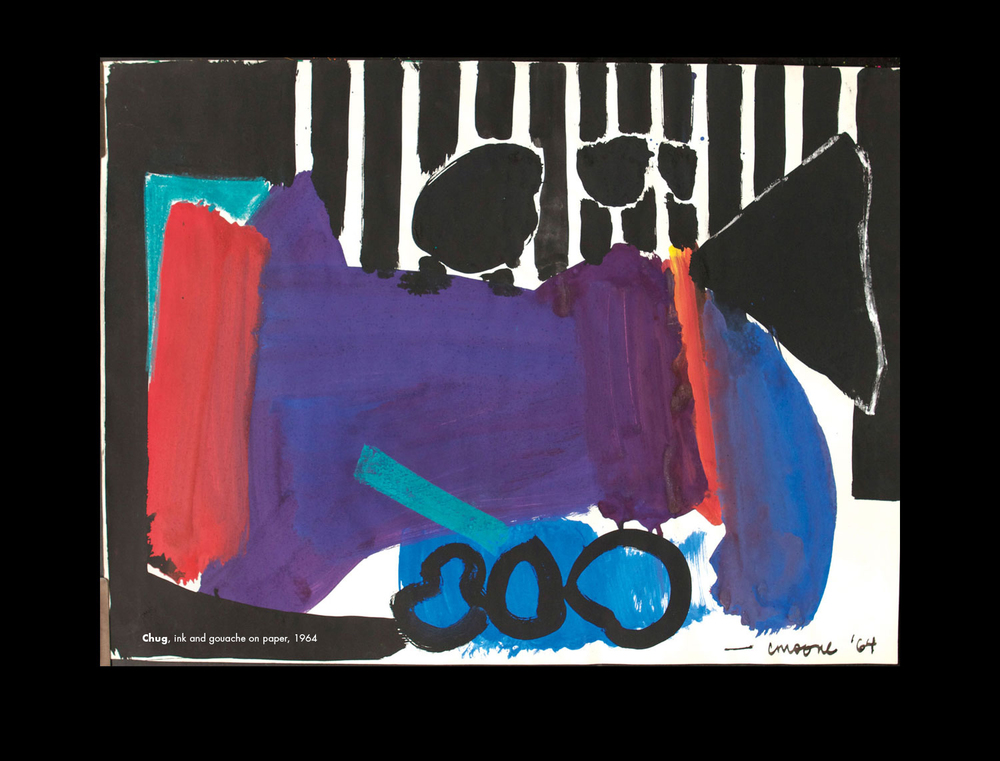 Chug , india ink and gouache on paper, 1964