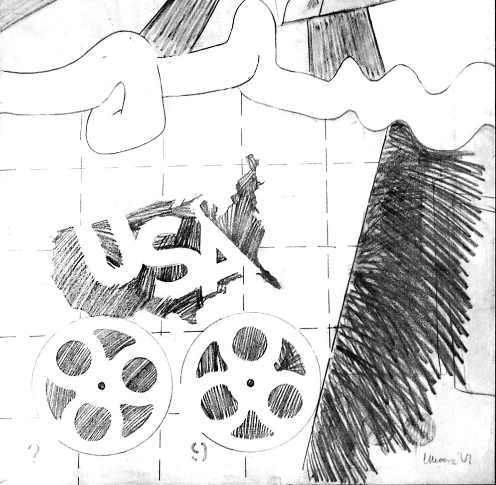 Reel Time, pencil on paper, 1967