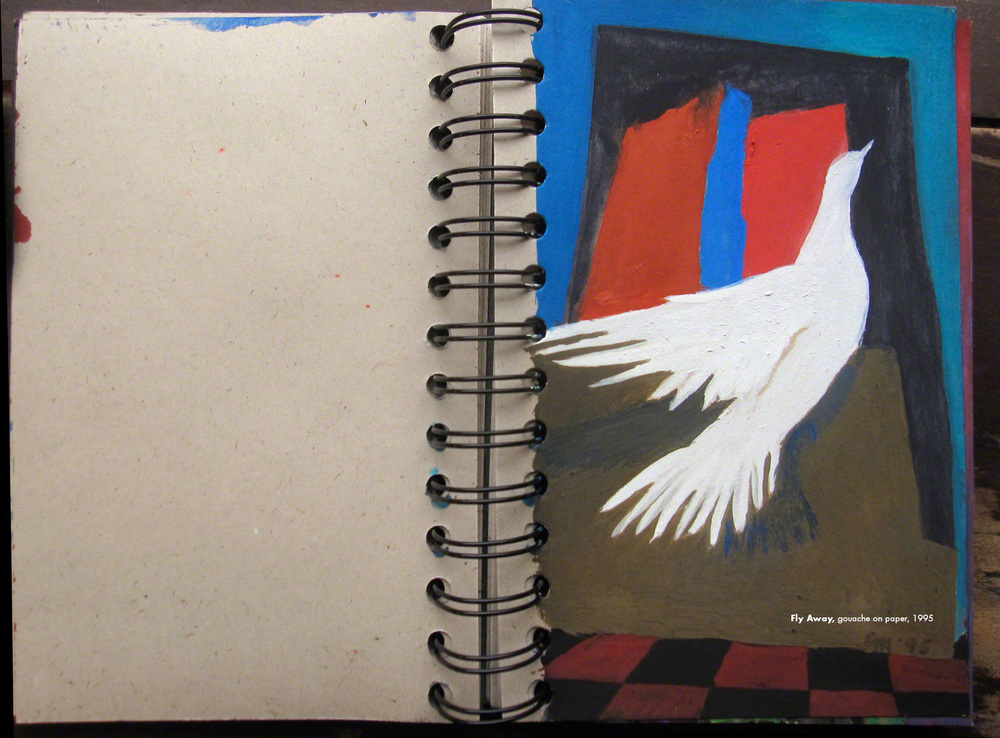 Fly Away , gouache on paper, 1995