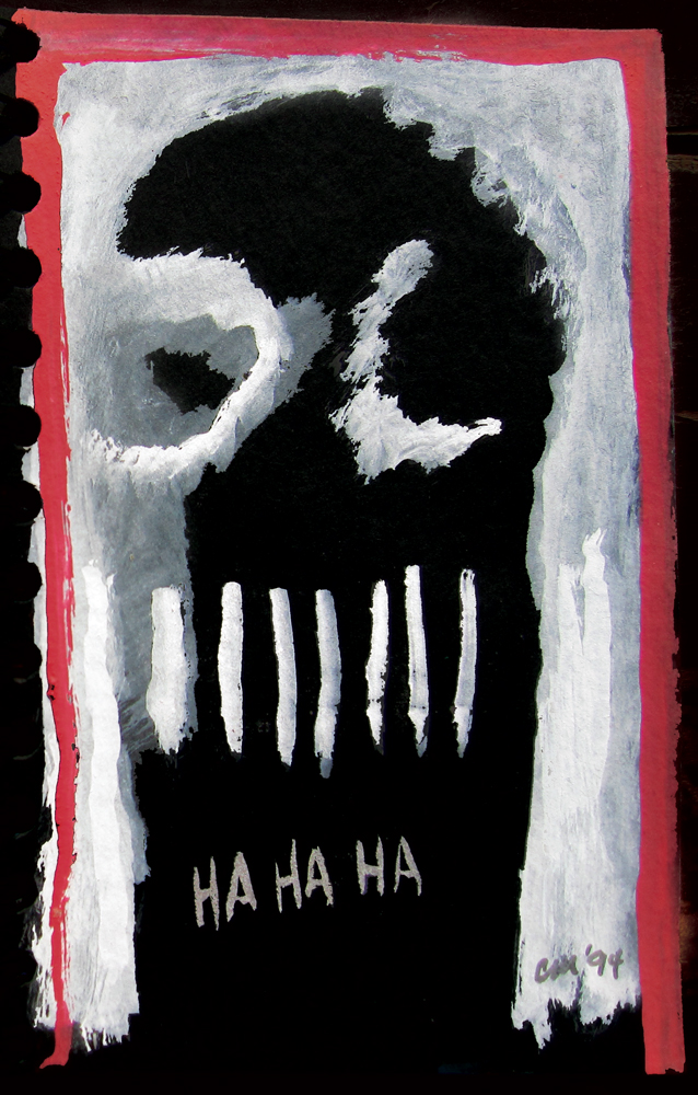 Last Laugh , gouache on paper, 1994