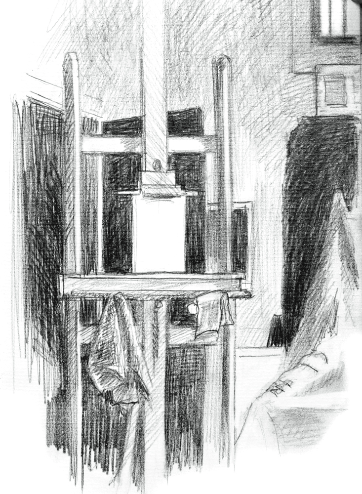Blank Easel, pencil on paper, 2000