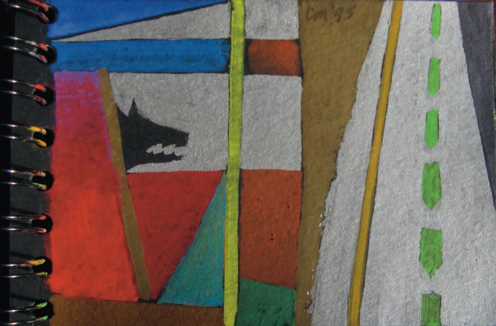 Wailing, gouache on paper, 1995